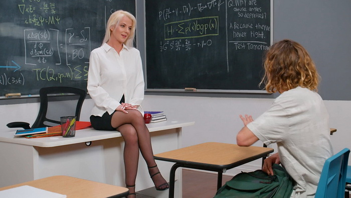 [MyFirstSexTeacher/NaughtyAmerica] - Anita Blue - Professor Anita Blue Loves To Ride Young College Cock In Her Classroom (2021 / HD 720p)