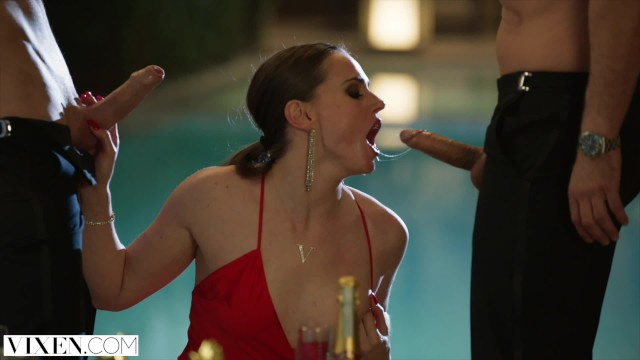 [VIXEN] - Tori Black - Takes on Two Cocks In An Award Show After Party (2021 / FullHD 1080p)