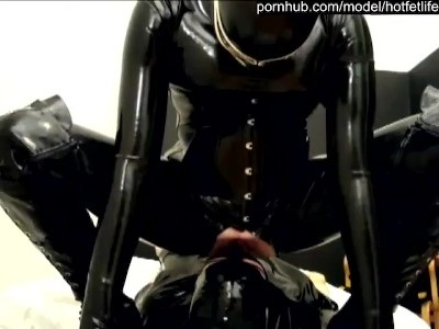 [HotFetLife] - HotFetLife - Rubber Femdom Girl And Her Latex Fetish Boy - Facesitting Spitting Rimming Face Slapping (2021 / SD 480p)