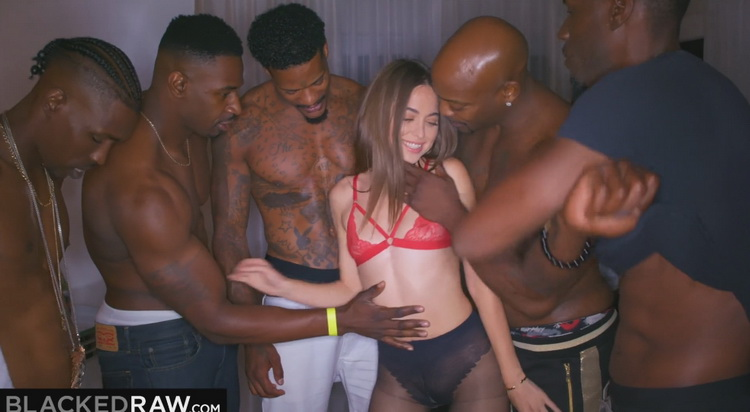 BlackedRaw: Girlfriend got Gangbanged at the after Party - Riley Reid [2021] (FullHD 1080p)