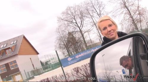 TakeVan - Unknown - Ugly MILF Teacher get Sperm Covered her Glasses in Van (FullHD/1080p/700 MB)