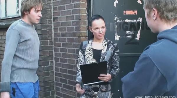 Wild Threesome for Dutch Teen in Holland - Unknown [DutchFantasies] (HD 720p)