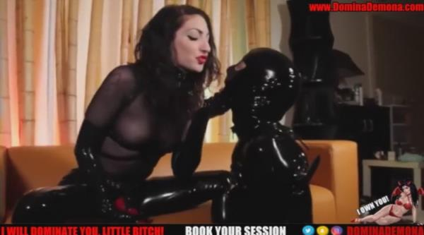 Latex Slave Gets Fucked by Big Red Cock - Dungeonroom [Dungeonroom] (HD 720p)