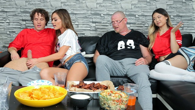 [FamilySwapXXX] - Lulu Chu, Aila Donovan - If your team wins then swap mom and I will show you our titties (2021 / HD 720p)