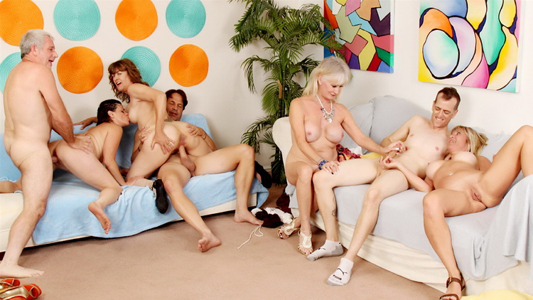 [Goldenslut] - Sky Haven, Babe Morgan, Michele Marks, Leah L'Amour - Aged to Perfection Orgy (2021 / FullHD 1080p)