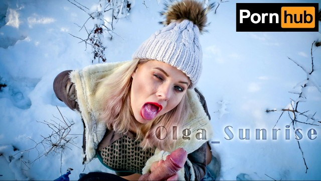 [OlgaSunrise] - Olga Sunrise - Hot Olga gives warming blowjob on a frosty day in Russia (2021 / FullHD 1080p)