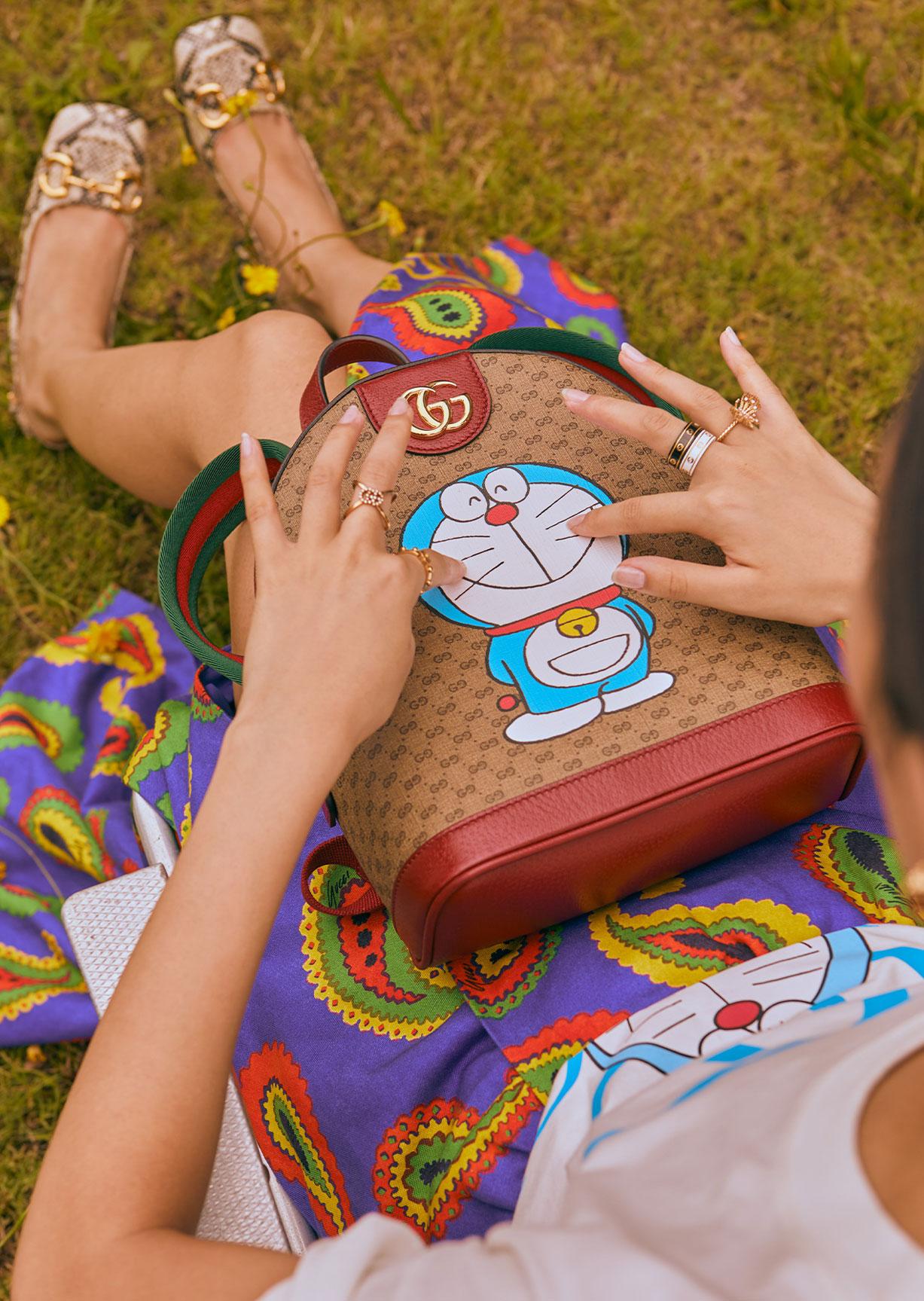 Обувь и сумочки новой коллекции Doraemon x Gucci / фото 05