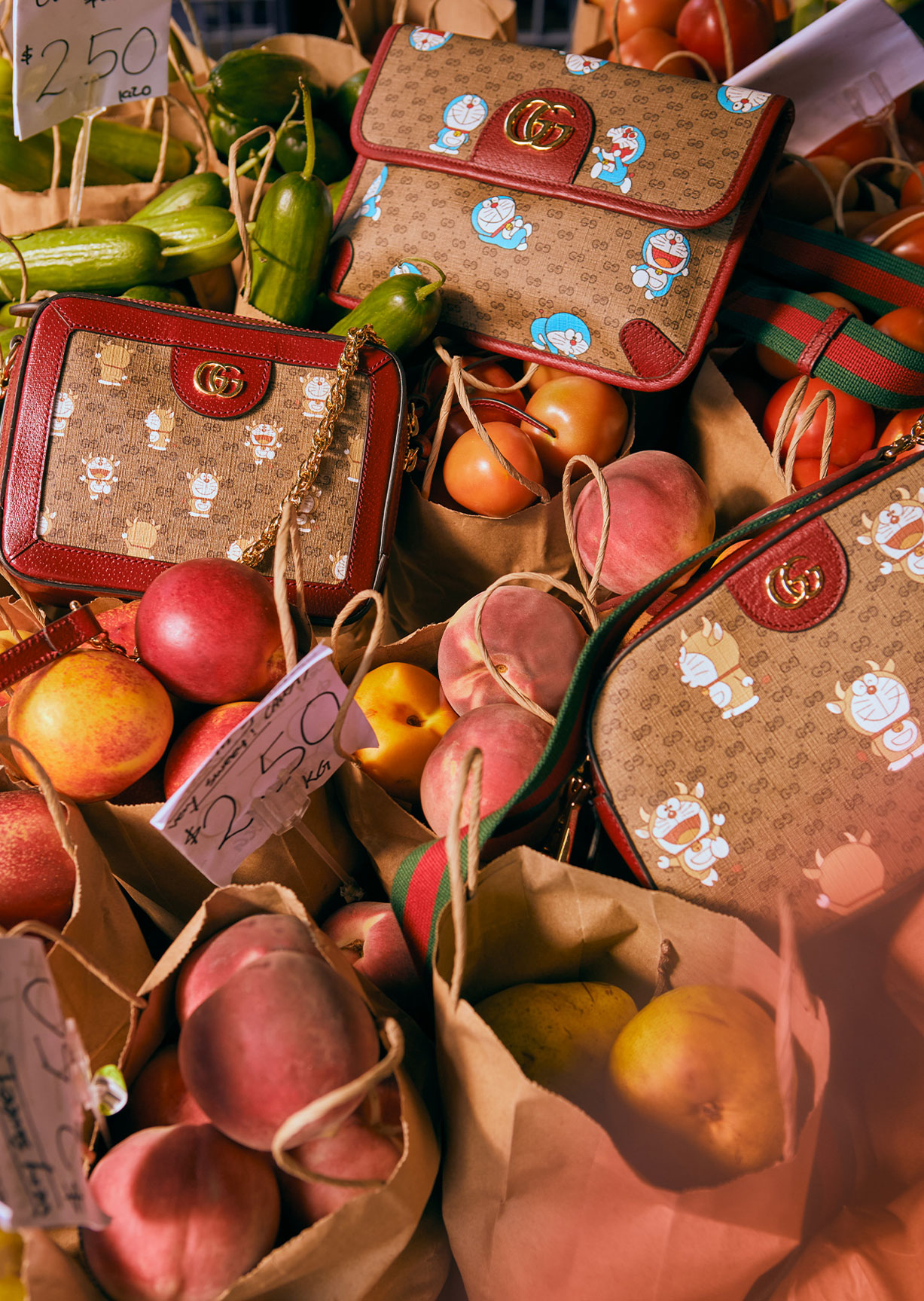 Обувь и сумочки новой коллекции Doraemon x Gucci / фото 11