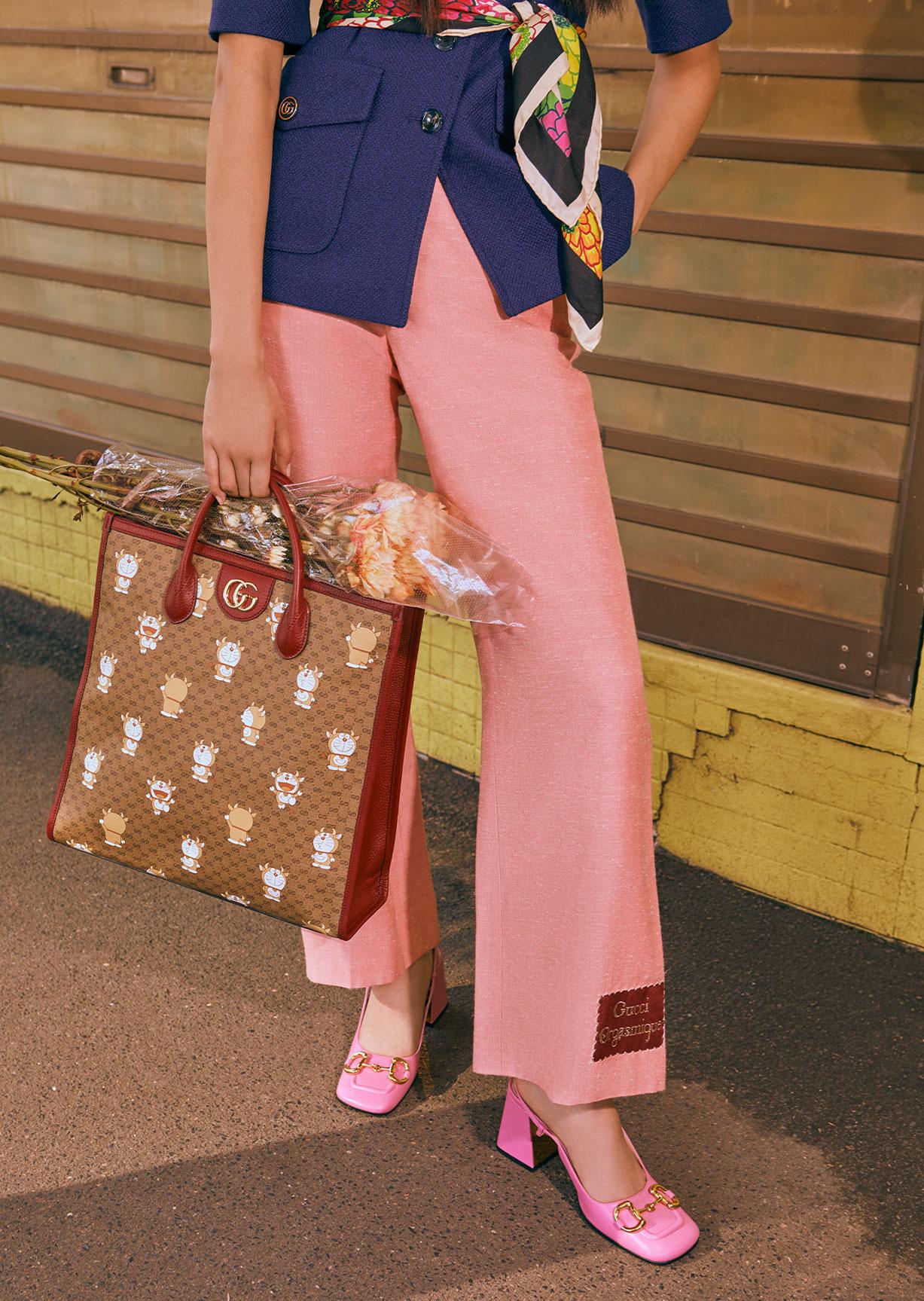 Обувь и сумочки новой коллекции Doraemon x Gucci / фото 12