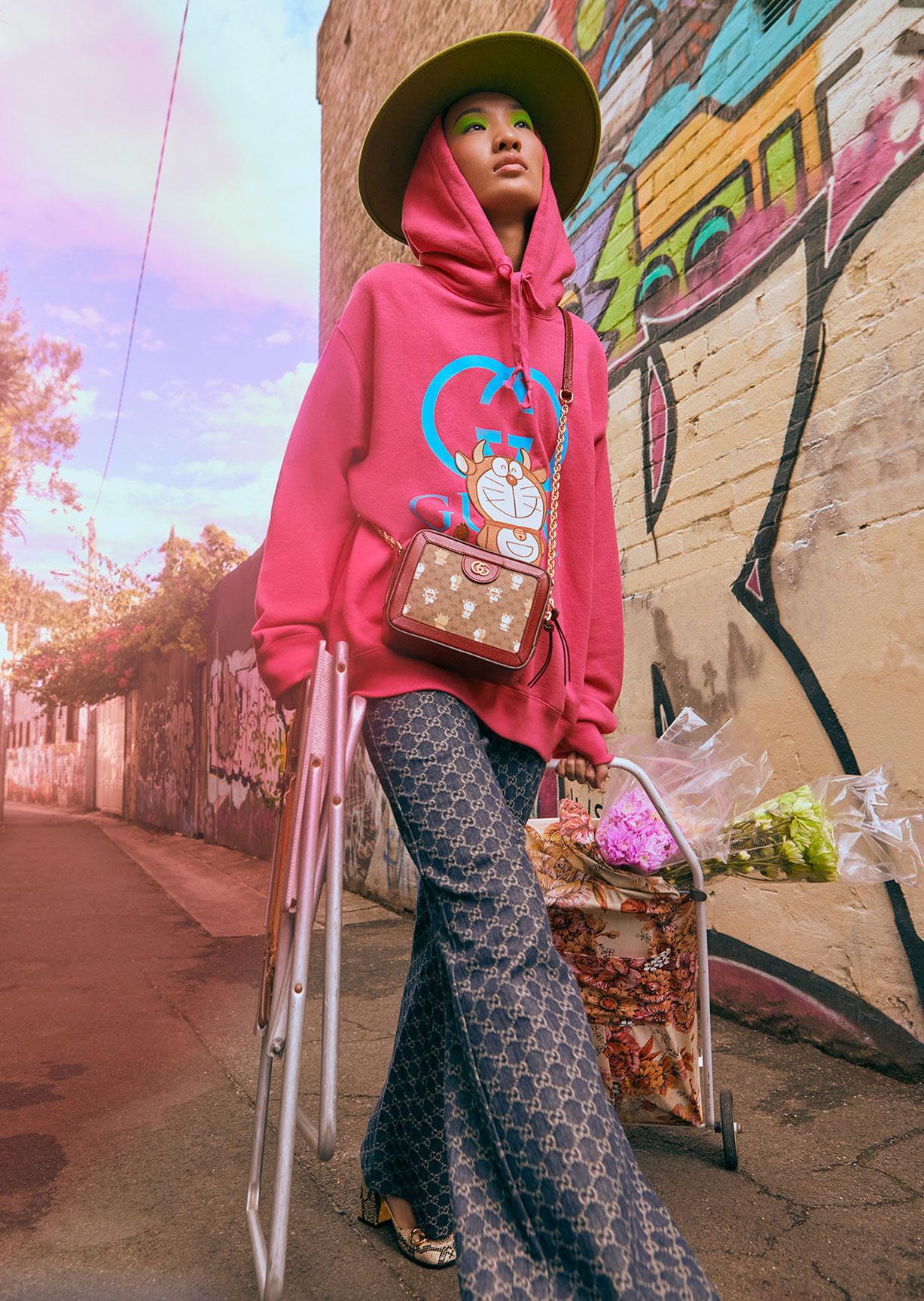 Обувь и сумочки новой коллекции Doraemon x Gucci / фото 14