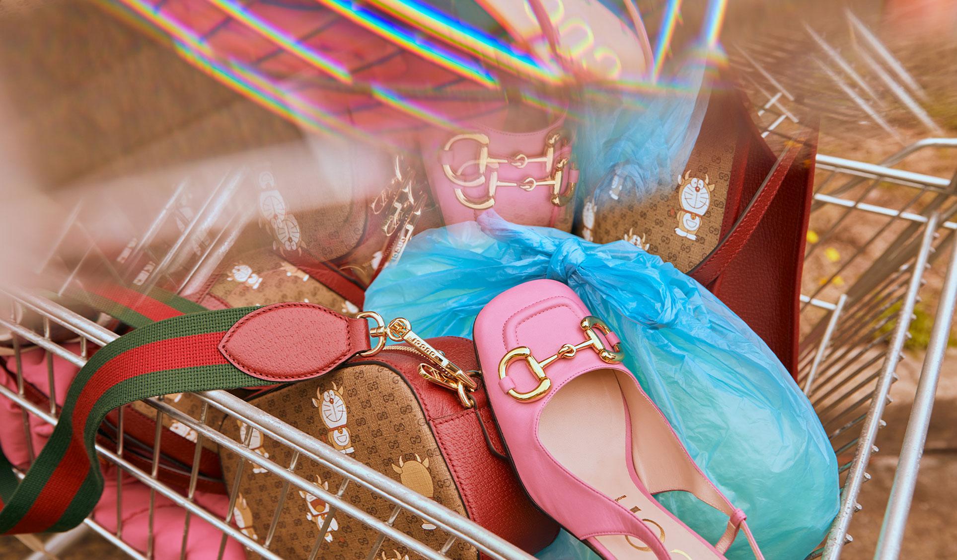 Обувь и сумочки новой коллекции Doraemon x Gucci / фото 16