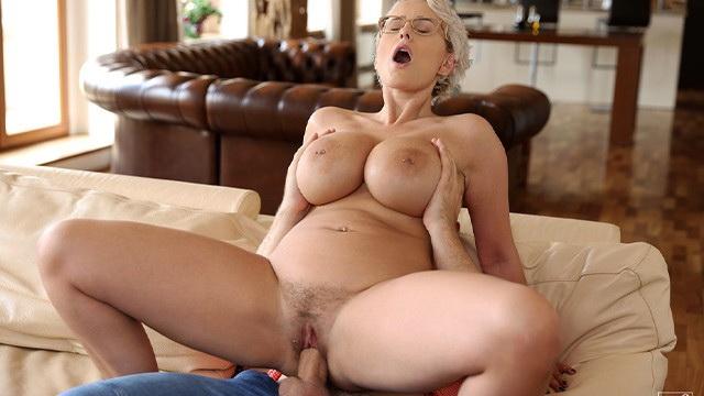 [NFBusty] - Angel Wicky - Stepson Fucks Big Titted Stepmom (2021 / HD 720p)